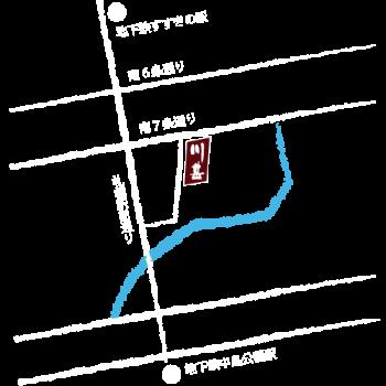さっぽろ川甚本店マップ